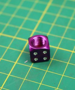 4 Purple Dice Car Bike Motorcycle BMX Wheel Tyre Valve Metal Dust Caps Drift cap