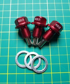 Toyota Supra Mk3 or Mk4 Red Magnetic Oil Sump Plug, 7MGTE, 2JZ, + Other Toyotas