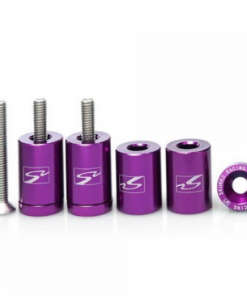 "Skunk2 Purple - 1"" billet hood SPACERS raisers drift track race car JDM EK EG DC"