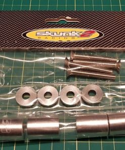 "Skunk2 Blue - 1"" billet hood SPACERS raisers drift track race S14 JDM EK 200sx"