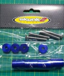 "Skunk2 Blue - 1"" billet hood SPACERS raisers drift track race car JDM MX5 200sx"